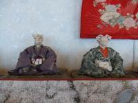 磯谷佐紀子氏の干支のお雛様も展示中