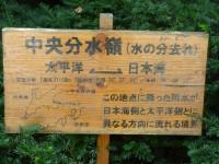 分水嶺の記載板